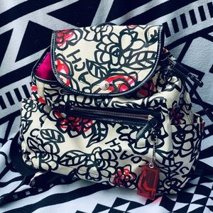 Authentic Coach Poppy Print Backpack